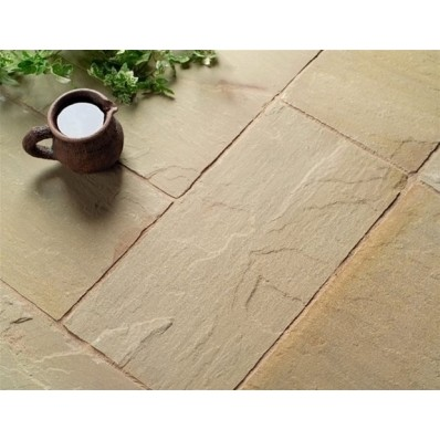 Castacrete Thin Sandstone Paving 20.43m2 Patio Pack - Raj