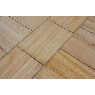 Castacrete Six Sides Sawn and Honed Sandstone Paving 14.85m2 Patio Pack - Teakwood