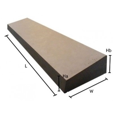 9 inch, 225mm Concrete Utility Once Weathered Wall Coping Stone