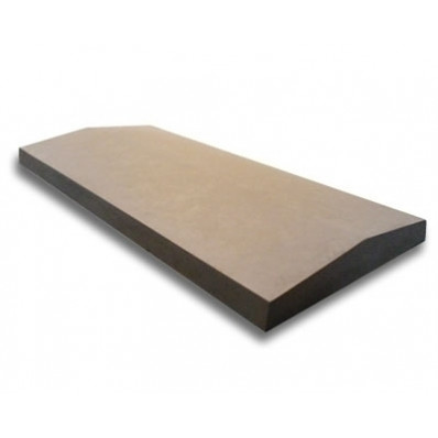 15 inch, 380mm Concrete Utility Twice Weathered Wall Coping Stone