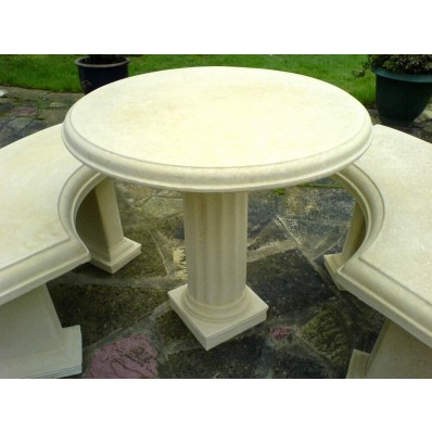 Stone Country Pedestal Table