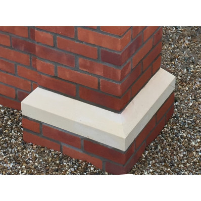 18 inch, 450mm Dry Cast Stone Base Plinth