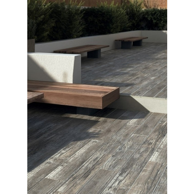 Bradstone Madera Antigua Porcelain Paving, Grey, 900 x 150, 144 Pack