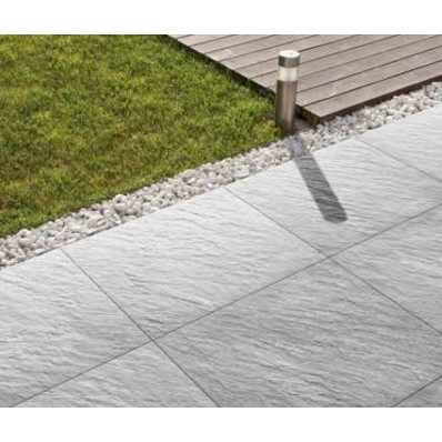 Bradstone Mode Porcelain Paving, Profiled, Silver Grey, 600x600 60 Pack