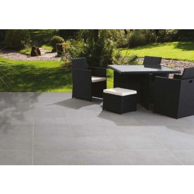 Bradstone Mode Porcelain Paving, Textured, Dark Grey