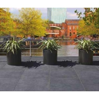 Bradstone Mode Porcelain Paving, Textured, Graphite, 600x600 60 Pack