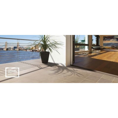Bradstone Mode Porcelain Paving, Textured, Shell, 600x300 72 Pack