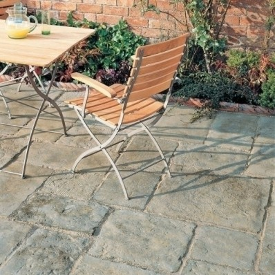 Bradstone Old Town Paving, Grey Green, 450x300 Slab - 46 Pack