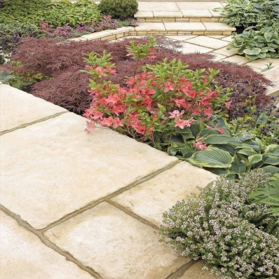Bradstone Old Town Paving, Weathered Limestone, 900x600 Slab - 10 Pack