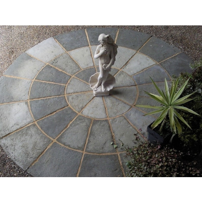Olde York 2.7m Circle Patio Kit - Grey Green
