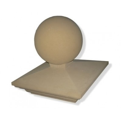 18 inch Regency Stone Pier Cap with Sphere (Ball)