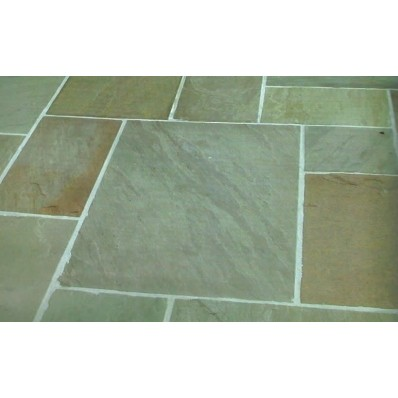 Raj, Natural Sandstone Paving 19.35m2 Calibrated Patio Kit