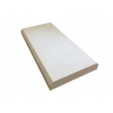 12 inch, 305mm Dry Cast Stone, Shallow Chamfered Flat Wall Coping Stone