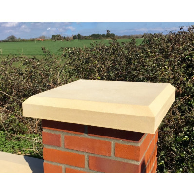25 inch, 635mm Shallow Chamfered Flat Pier Cap