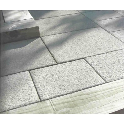 Castacrete Textured Paving 7.2m2 Patio Kit, Grey Natural