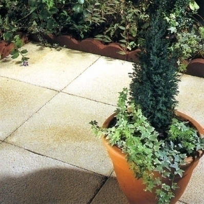 Castacrete Textured Paving 7.2m2 Patio Kit, Buff Yellow