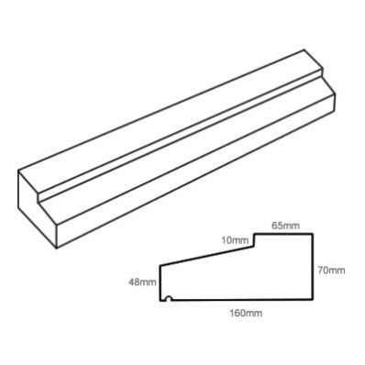 TYPE1 Stone Slip Window Sill 70-48mm x 160mm