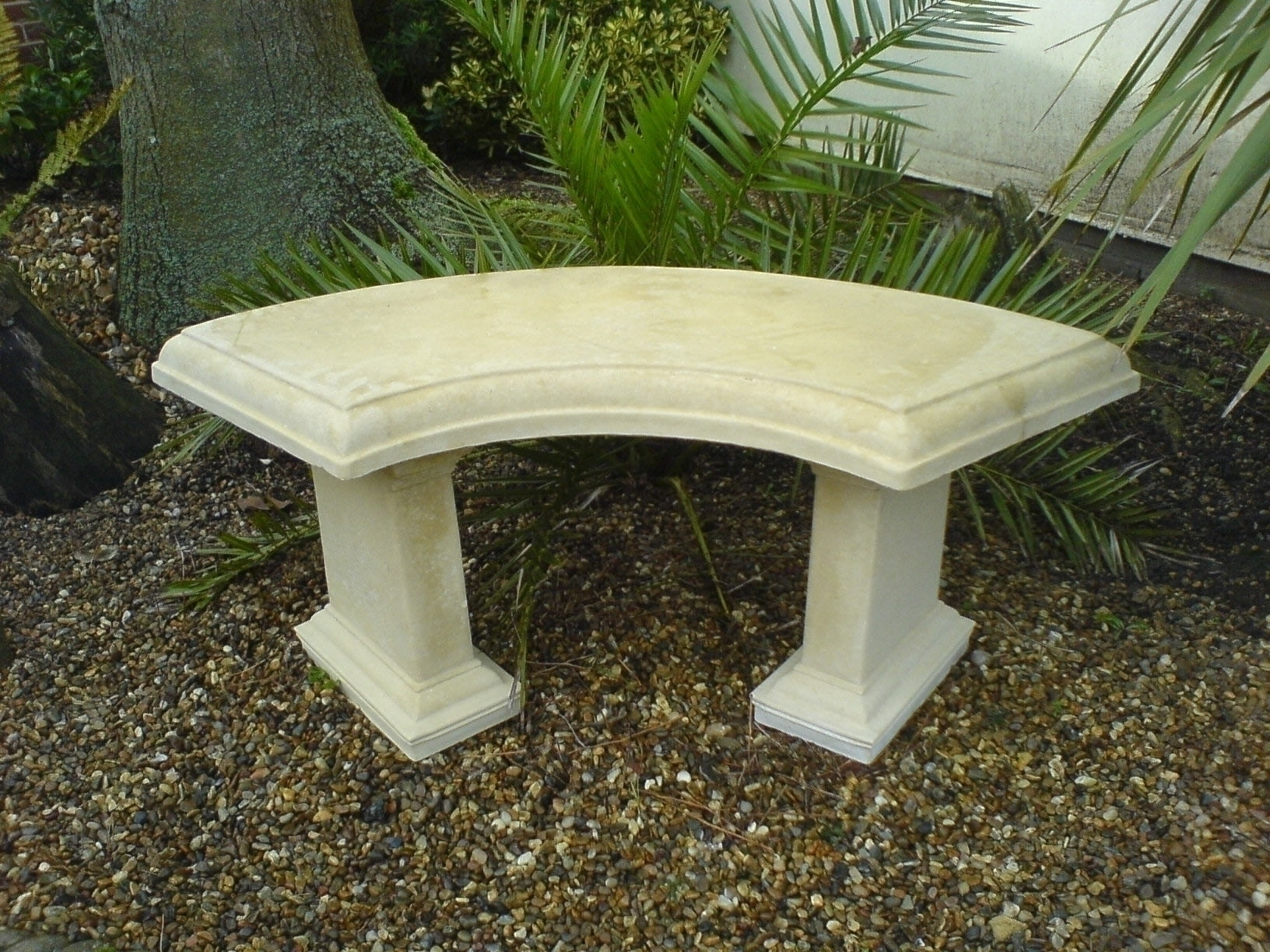 Picture of: Stone Country Garden Bench