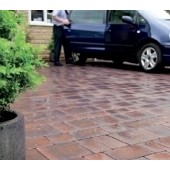 Cemex Barbican 50 Driveway Block Paving, Single Size Pack, Autumn Hue