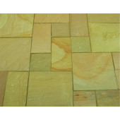 Castacrete Calibrated Sandstone Paving 15.25m2 Patio Pack - Lalitpur Yellow