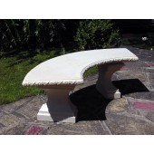 Stone Curved Classic Garden Bench - TOP ONLY