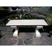 Stone Straight Classic Garden Bench - TOP ONLY