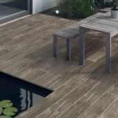 Bradstone Madera Antigua Porcelain Paving, Oak, 900 x 150, 144 Pack