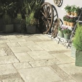 Bradstone Old Town Paving, Grey Green, 8.8m2 Patio Pack with Edging
