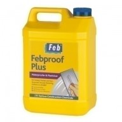 EverBuild Febproof Plus 5L - Waterproofer and Plasticiser