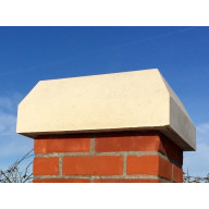 15 inch, 380mm Monkston Flat Top Stone Pier Cap