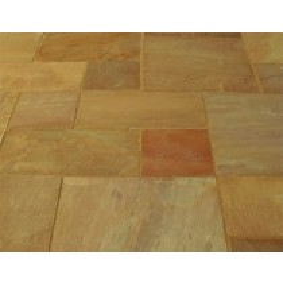 Castacrete Calibrated Sandstone Paving 15.25m2 Patio Pack - Autumn