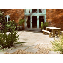 Bradstone Natural Sandstone Paving, Fossil Buff, 15.30m2 Patio Pack