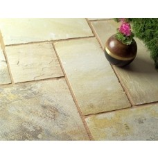 Castacrete Calibrated Sandstone Paving 15.25m2 Patio Pack - Mint