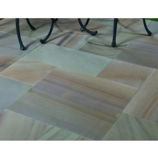 Castacrete Six Sides Sawn and Honed Sandstone Paving 14.85m2 Patio Pack - Buff Brown