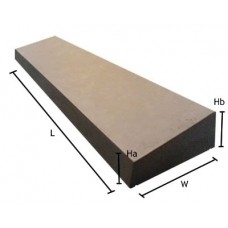 18 inch, 450mm Concrete Utility Once Weathered Wall Coping Stone