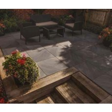Bradstone Mode Porcelain Paving, Profiled, Dark Grey
