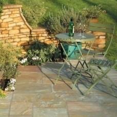 Bradstone Natural Sandstone Paving, Autumn Green, 15.30m2 Patio Pack