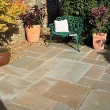 Bradstone Natural Sandstone Paving, Sunset Buff, 15.30m2 Patio Pack