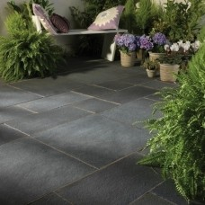 Bradstone Natural Slate Paving, Blue Black