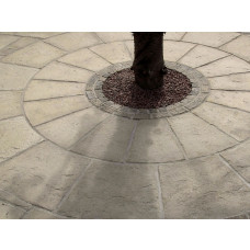 Olde York 3.6m HALF Circle Patio Kit - Worn Limestone