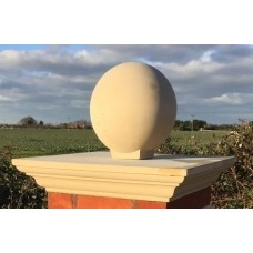 9 inch Regency Stone Flat Top Pier Cap with Sphere (Ball)