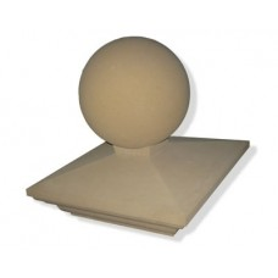 13 inch Regency Stone Pier Cap with Sphere (Ball)