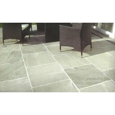 Light Grey, Natural Sandstone Paving 19.35m2 Calibrated Patio Kit