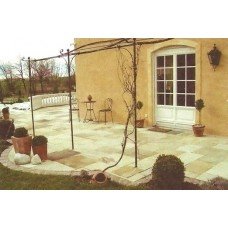 Mint Fossil, Natural Sandstone Paving 19.35m2 Calibrated Patio Kit
