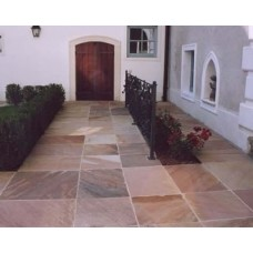 Modak, Natural Sandstone Paving 19.35m2 Calibrated Patio Kit