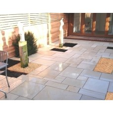 Sawn Ivory, Natural Sandstone Paving 19.35m2 Patio Kit