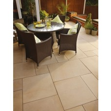 Bradstone Smooth Natural Sandstone Paving, Ivory, 15.30m2 Patio Pack