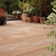 Bradstone Smooth Natural Sandstone Paving, Rainbow, 15.30m2 Patio Pack